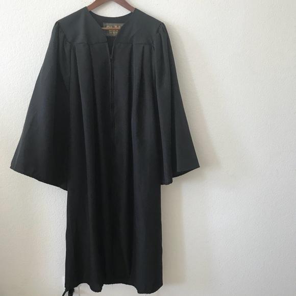 Oak Hill Other   Oak Hall Black Graduation Gown Bachelor 5658   Poshmark